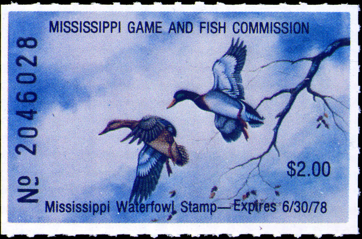 Mississippi - Waterfowl Stamp (1976-20 12 )
